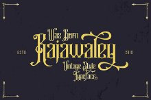 Rajawaley Typeface by  in Blackletter Fonts