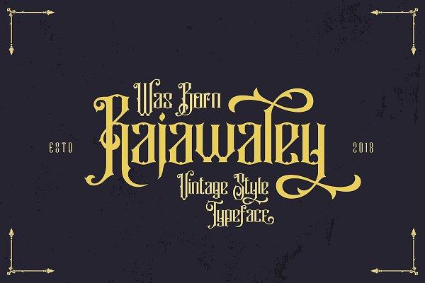 Blackletter Fonts: DikasStudio - Rajawaley Typeface