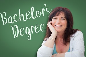 Bachelor's Degree Written On Green C