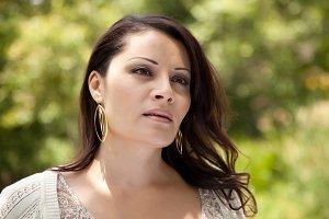 Attractive Hispanic Woman in the Par