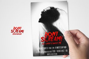 Dont Scream Horror invitation