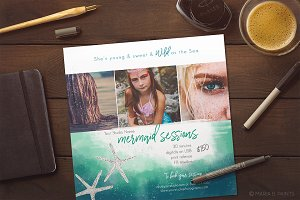 Mermaid Photo Marketing Template
