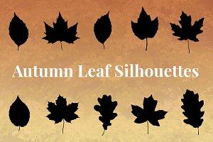 Autumn Leaf Silhouettes + Bonus
