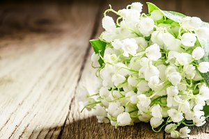 Bouquet of may forest lily of the va