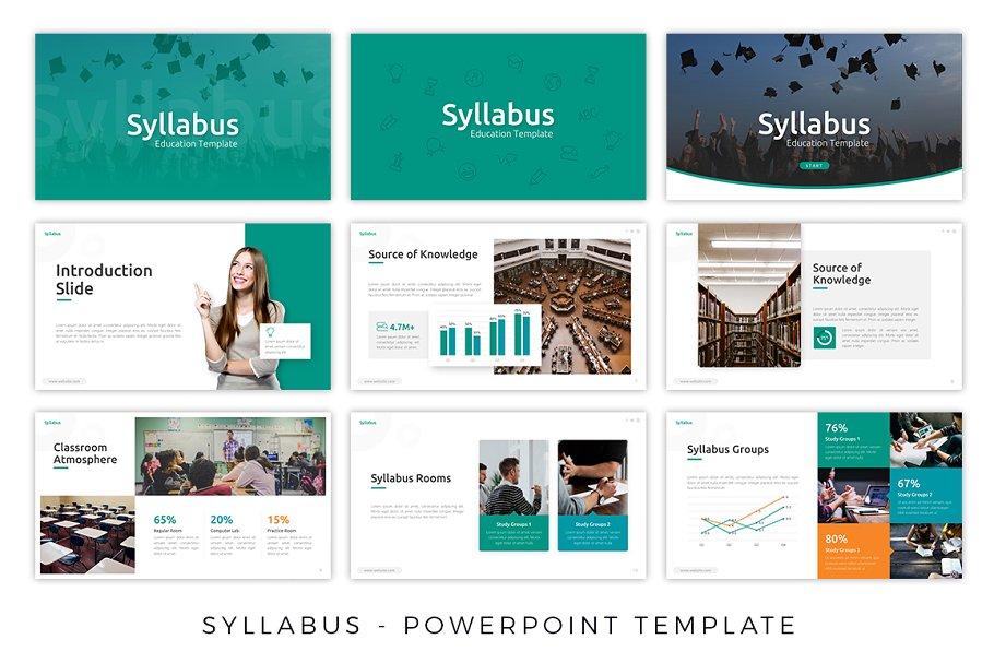 Syllabus - Education Presentation ~ PowerPoint Templates ~ Creative