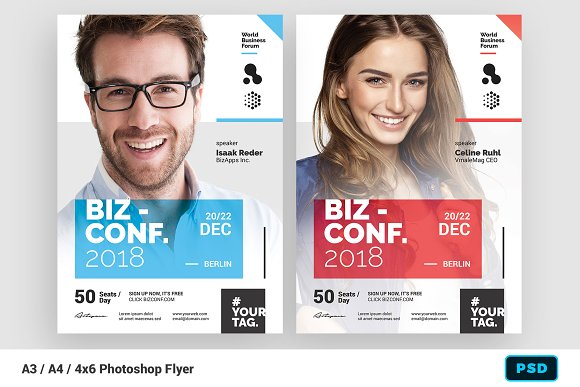 seminar flyer template flyer templates creative market