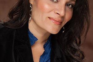 Attractive Hispanic Woman Portrait