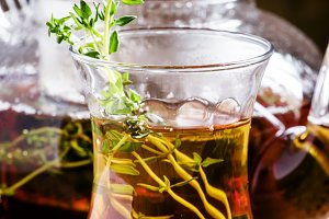 Middle East Black tea with thyme, et