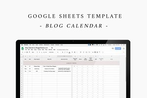 Google Sheets Blog Calendar