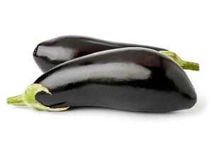 Two eggplants isolated.