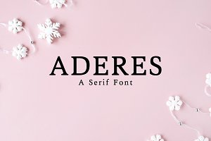 Aderes Serif 2 Font Family Pack