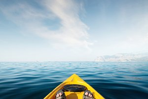 Kayaking on the sea