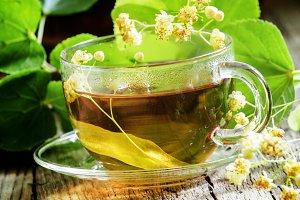 Traditional Russian linden tea, flow