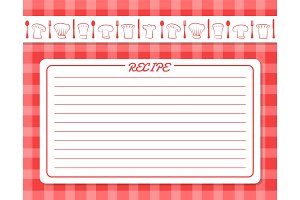 Decorative Card with Lines for