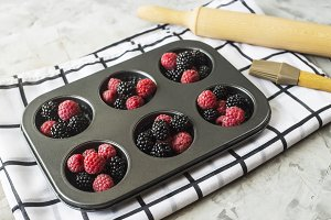 Baking with berries