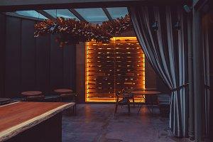 chic interior of restaurant
