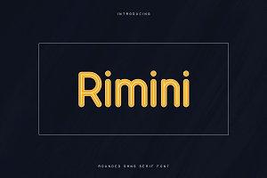 Rimini-Rounded Sans Serif font -50%
