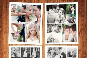 Wedding Templates Photo Collage Set