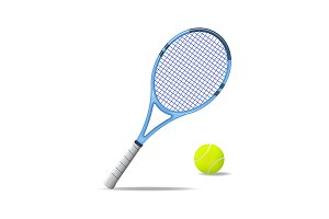 Tennis Racket and Ball Set