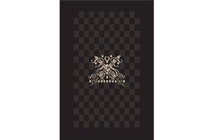 Card design with swords, skulls head