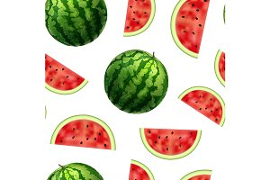 Watermelon and Slices Pattern