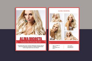 Modeling Comp Card Template-V818