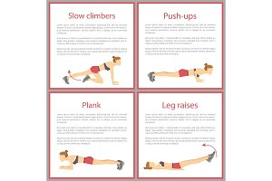 Slow Climbers and Push Ups Set