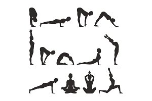 Yoga Pose Collection Silhouette