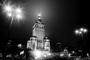 Warsaw, Poland: black and white