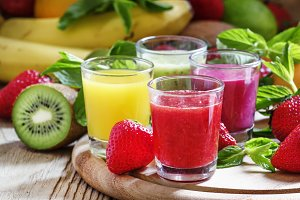 Fruit and berry freshly squeezed smo