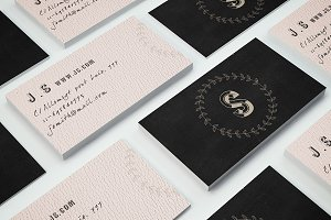 Retro monogram business card