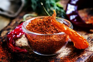 Ground dried red cayenne pepper, rus