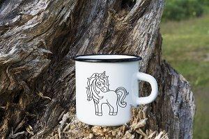 Campfire enamel mug mockup