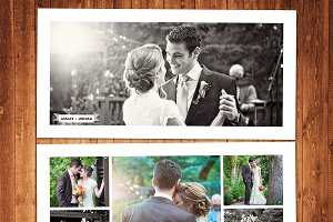 Wedding templates photo collage card templates creative market wedding photo collage template maxwellsz