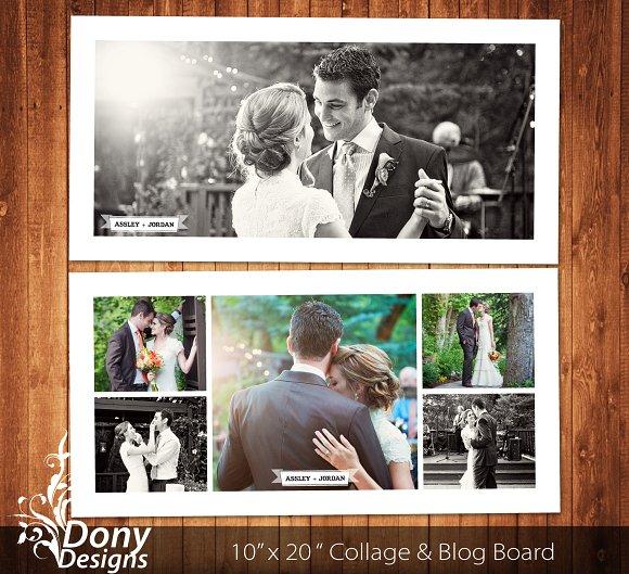 wedding photo collage template card templates creative market