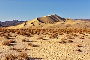 The sandy dune in Dead Walley