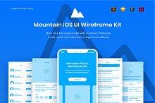 Mountain IOS UI Wireframe Kit by  in Wireframe Kits