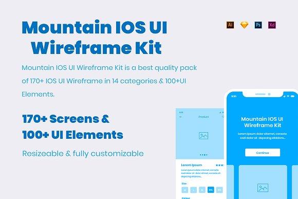 Mountain IOS UI Wireframe Kit