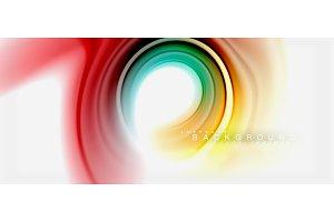 Rainbow fluid colors abstract