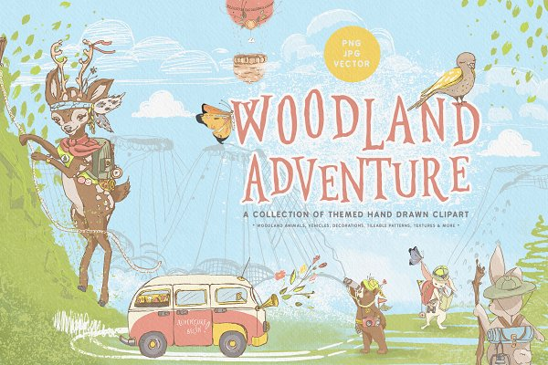 Illustrations and Illustration Products: Principesca - Woodland Adventures