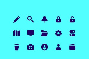 Bold UI icons