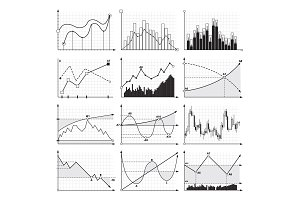 Finance charts and business graphics