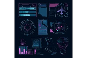 Digital futuristic elements for web