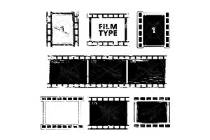 Film strip template. Vector pictures