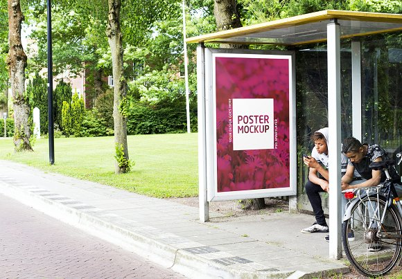 Bus stop design template in Templates