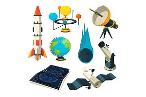 Astronomy vector symbols and