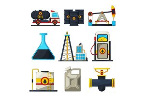 Fuel and gas industry. Vector icon