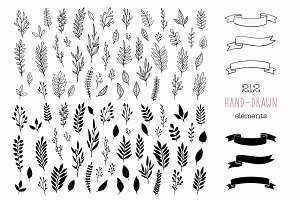 Hand Drawn Rustic Design Elements