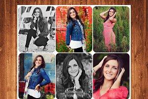Senior Template Photo Collage