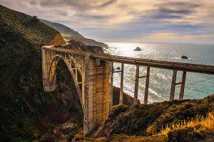 Bixby Bridge and Pacific Coast